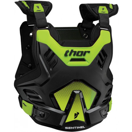 Thor Sentinel Gp youth roost guard Black/Flo green
