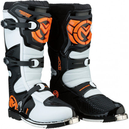 Moose Racing S18 M1.3 MX  Boots Orange/white