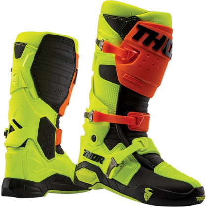 Thor Radial Boots Orange/flo yelloiw