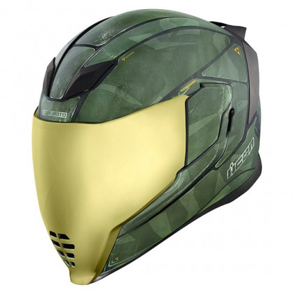 Icon Airflite Battlescar 2 kypärä Green