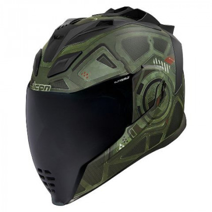 Icon Airflite Blockchain helmet Green