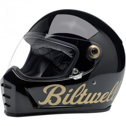 Biltwell Lane Splitter kypärä Factory gloss black/gold