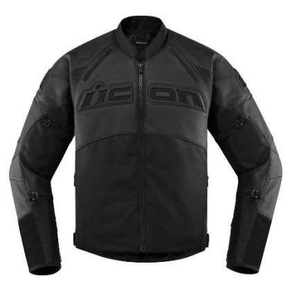Icon Contra2 Leather ajotakki Stealth