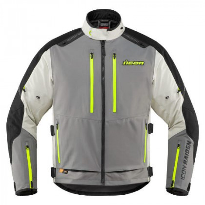 Icon Raiden CE jacket Gray/hi-viz