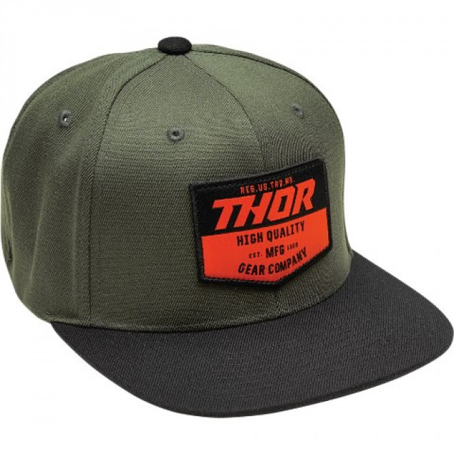 Thor Chevron Snapback lippis Black/military green