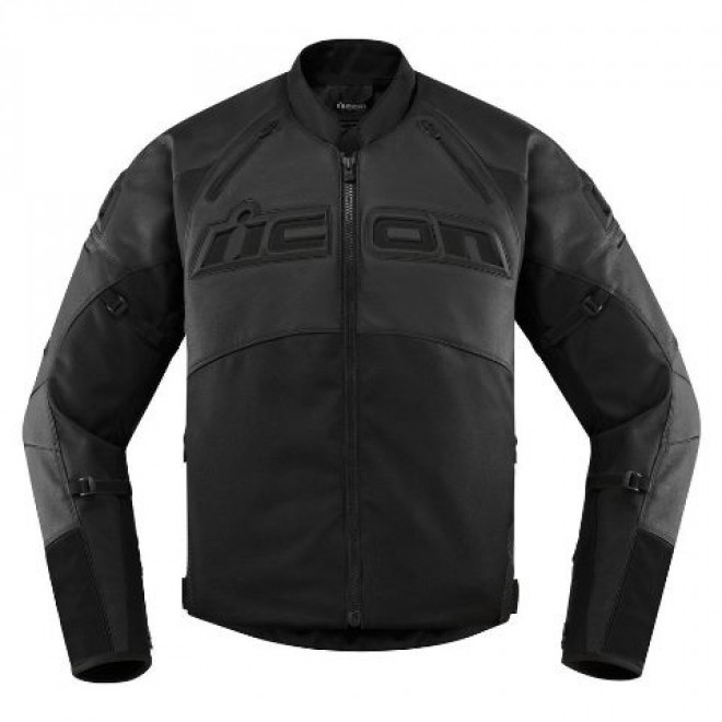 Icon Contra2 Leather jacket Stealth